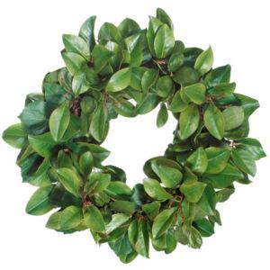 """magnolia wreath 30"""""""