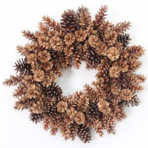 """pinecone wreath 28"""""""